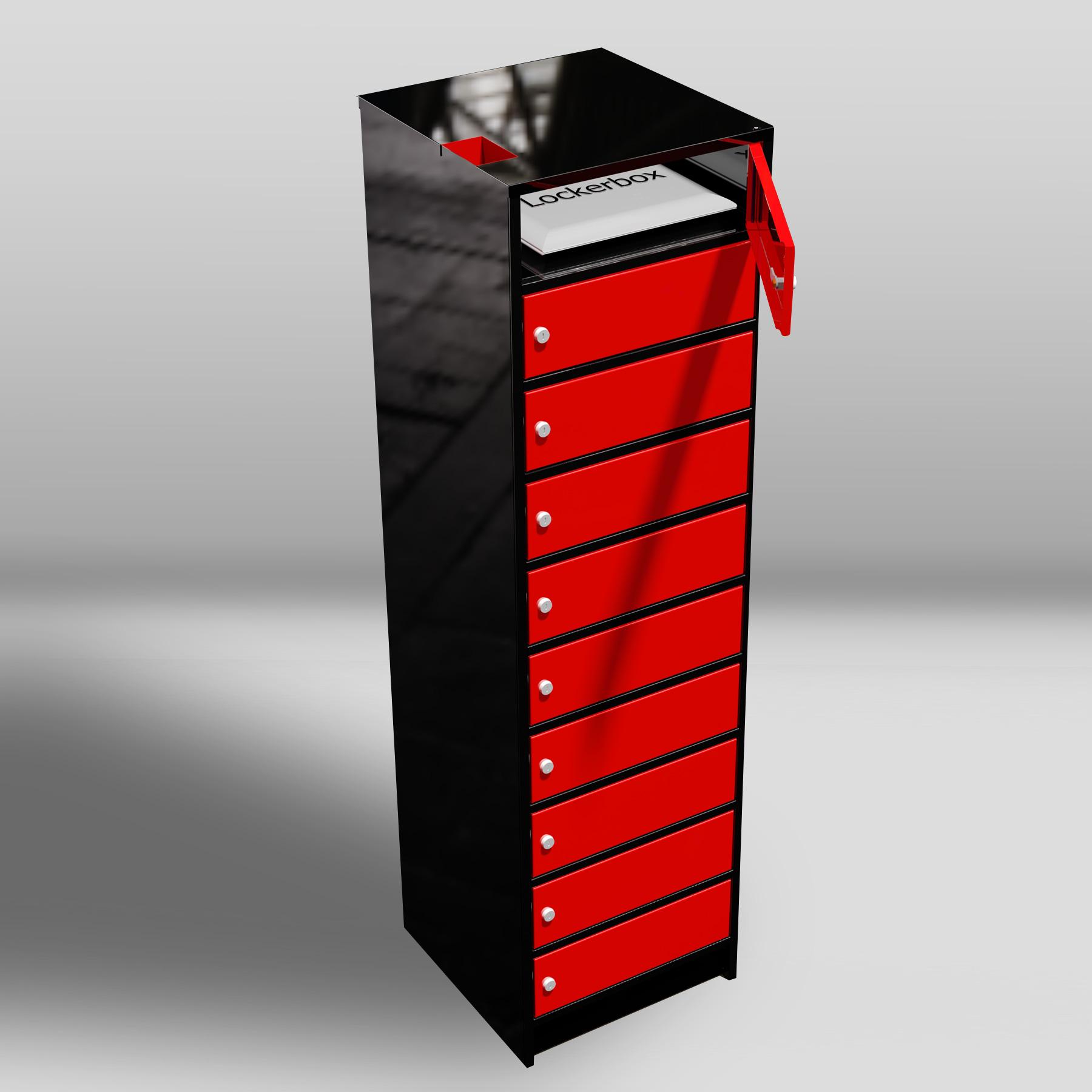 Lockers voor laptops / lockers met postvak