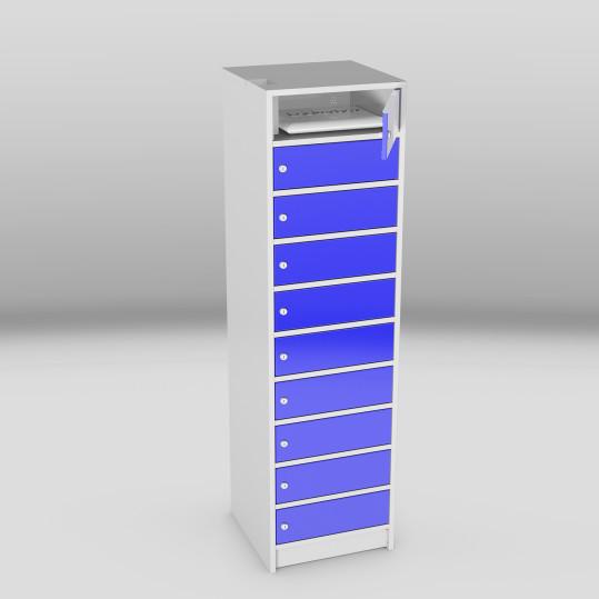 laptop lockers 10 vakken blauw